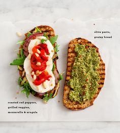 veggie caprese with olive pesto