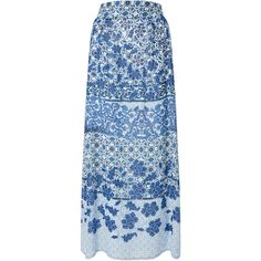 Monsoon Riley Print Maxi Skirt (1.395.765 IDR) ❤ liked on Polyvore featuring skirts, blue maxi skirt, floral print skirt, blue skirt, floral print maxi skirt and full length skirts