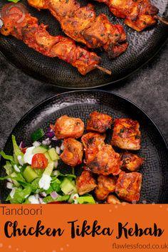 Tandoori Chicken Marinade, Chicken Tikka Kebab, Chicken Masala, Chicken Skewers Marinade, Kebab Recipes, Entree Recipes, Indian Food Recipes, Dinner Recipes, Chicken Breast Recipes Healthy