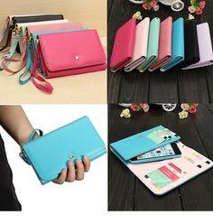 Flip Cover Zipper Wallet Purse Case For iPhone 6 4.7 Plus 5.5 Galaxy Note 4 Mega 5.8 Note 2 3