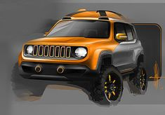 2015-01-06 | Jeep Renegade Sketch of the day by X. Delvallee