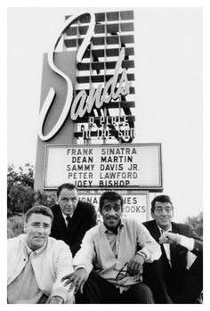 L-R at The Sands Las Vegas Peter Lawford, Frank Sanatra, Sammy Davies Jnr, Dean Martin. Pure Brillance