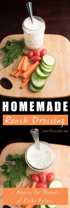 Could Creamy Homemade Ranch Dressing be the secret to conquering your tribe of picky eaters? Well, not exactly, but it might be something that can aid in the struggle. And the struggle is real. Tons of parents face the daily mealtime battle of trying to raise healthy eaters. But it could be that a lot of our strategies are having the opposite effect of what we intend? Click the pin above for a great Homemade Ranch Dressing recipe and insight on a common meal time trap most parents fall into.