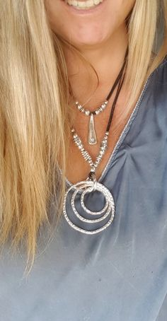 Collar de doble espiral sin fin collar de estilo por myDemimore