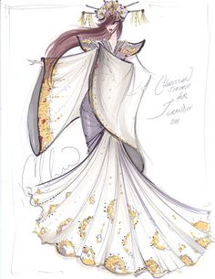 Christian Siriano's rendering for Turandot. (Link includes other fashion designer's sketches of characters from other famous operas) LOVE IT