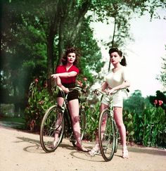 Actress and model sisters, Lisa Gaye and Debra Paget c. 1950's