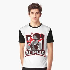 'I'm The Alpha Graphic T-Shirt by CavemanMedia Alpha Apparel, Alpha 7, My T Shirt, Gentleman, Printed, Awesome, Mens Tops, Shirts, Products