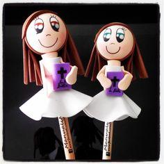 #Fofulápices de #niñas de #comunión #personalizadas para #regalar