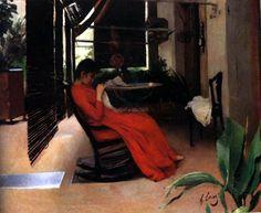 Mujer cosiendo / Ramon Casas i Carbó