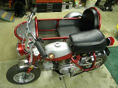 Honda Monkey 1969 with Sidecar Honda Bikes, Honda Cb, Moto Quad, Mini Motorbike, Homemade Tractor, Bike Pic, Honda Ruckus, Reverse Trike, Kids Bike