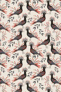 Lady Desidia #pattern #surfacepattern #bird