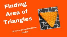 In this video we show you how to find the area of triangles. In addition, we also show you how to model area of triangles and a couple tips to help you out. Triangle Math, Finding Area, Two Dimensional Shapes, Maths Area, Flipped Classroom, Hands On Learning, Triangles