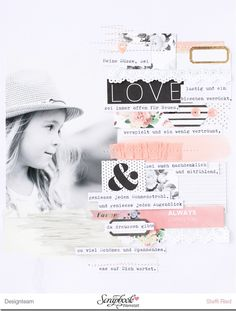 "Mai Kit 2016 Layout ""LOVE"" by Steffi Ried / Scrapbook Werkstatt"