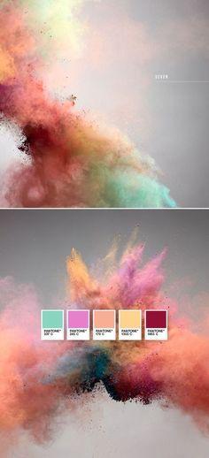 Love this Pantone color palette! Web Design, Design Art, Colour Schemes, Color Patterns, Colour Palettes, Color Trends 2018, 2018 Color, Photoshop, Design Graphique