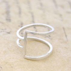 geometric silver square wire ring || otis jaxon silver jewellery…