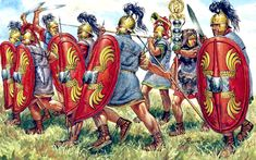 romanoimpero.com: LO SCUDO ROMANO Ancient Rome, Ancient History, Gaius Julius Caesar, August 9, Battle, Photos, Day, Painting, Soldiers