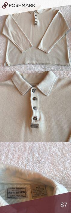 Men's shirt Cream color excellent condition runs big Shirts Casual Button Down Shirts
