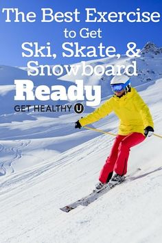 Exercises To Get Ski, Skate, and Snowboard Ready This exercise will prepare you for the slopes and get you ski, skate and snowboard ready!This exercise will prepare you for the slopes and get you ski, skate and snowboard ready! Snowboarding Exercises, Ski Exercises, Snowboarding Tattoo, Snowboarding Quotes, Snowboarding Style, Snowboarding Women, Skiing Workout, Ski Et Snowboard, Best Skis