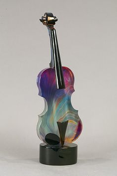 made by: Dino Rosin , glass art violin Blown Glass Art, Art Of Glass, Glass Artwork, Glass Vase, Fused Glass, Stained Glass, Glass Ceramic, Sculpture, Glass Design
