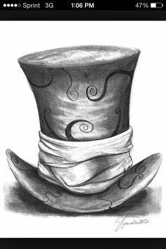 mad hatter top hat tattoo - Cerca con Google