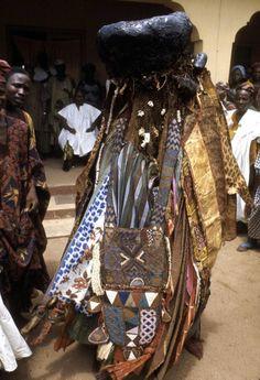 Africa | Egungun masquerade, at Odun Egungun festival.  Ede, Nigeria.  1970. | ©Eliot Elisofon.