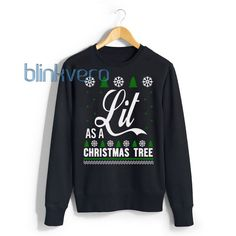 Lit Christmas Tree christmas sweater t shirt 10 will do the talking for you. Find fresh designs created by Blinkvero! Funny Christmas Tree, Funny Christmas Sweaters, Ugly Xmas Sweater, Christmas Humor, Xmas Sweaters, Christmas Pjs, Christmas Outfits, Christmas Ideas, Xmas Shirts