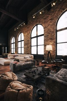 Rustic Living Room Decor – Cool Rustic Exposed Brick Wall Ideas for Your Liv… – Indian Living Room Design Ideas, Inspiration & Images Loft Design, Deco Design, House Design, Design Hotel, Design Design, Loft Interior Design, Table Design, Studio Interior, Design Living Room