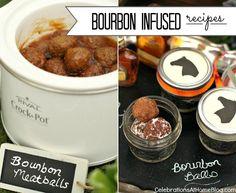bourbon infused recipes #meatballs #dessert