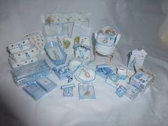 DOLLS HOUSE MINIATURE OOaK 1/12 Baby & His Peter Rabbit Essential Nursery Set