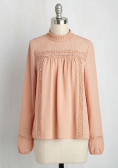 Victorian Edwardian lace blouse in peach