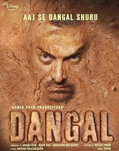 """Dangal"" (Official Poster)  We all know Mr. Perfectionist always comes up with a unique marketing plan for his brilliant movies, starting with the first look poster itself – be it the Ghajini look or the PK nude poster. And now the much-awaited Aamir Khan starrer 'Dangal' has finally set sail – Mr. perfectionist took to Twitter to share the first look poster of 'Dangal'."