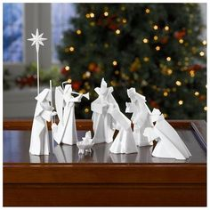 White Porcelain Origami Nativity Set  SHOP  $84.88·Rakuten.com - Universal Direct ...  Free shipping. No tax
