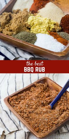 This BBQ rub is the perfect sweet and savory rub for pork and chicken. It's easy to make with ingredients you probably already have in your pantry. Don't grill without it! Homemade Dry Mixes, Homemade Bbq, Homemade Spices, Homemade Seasonings, Bbq Seasoning, Creole Seasoning, Seasoning Mixes, Chicken Seasoning, Steak Rubs