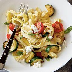 Healthy Zucchini, Cherry Tomato, and Fresh Ricotta Pasta | CookingLight.com