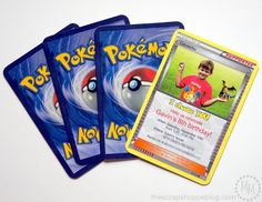 These Pokémon Card Birthday Invitations are perfect for any Pikachu fan!