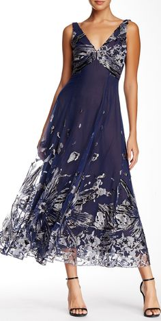 Marchesa Notte | Embellished Tea Length Gown | sponsored by Norstrom Rack