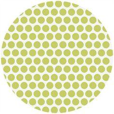 Jay-Cyn Designs for Birch Fabrics, Mod Basics, Organic, Dottie Color Grass - teal and apple