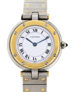 Cartier, Ronde, reloj de pulsera de señora en acero y oro