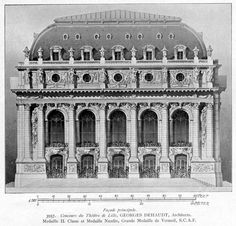 Elevation of the new theater building, Lille