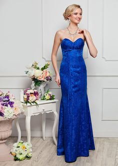 5f216e12c3784 Dresses - Classic Long Satin Strapless Evening Dresses - S / blue - My Best  Dress - 1