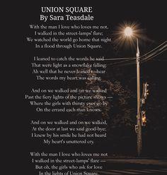 Union Square By Sara Teasdale