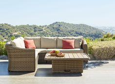 Outdoor Sectional, Sectional Sofa, Outdoor Furniture Sets, Outdoor Decor, Home Decor, Environment, Outdoor Furniture, Garden Decorations, Terrace