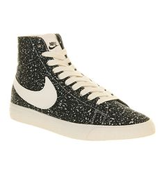Nike Blazer Mid Decon Black Sail Print - Unisex Sports