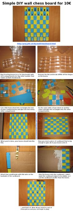 Simple and cheap DIY Wall Chess Board for 10€ Vertical Chess board