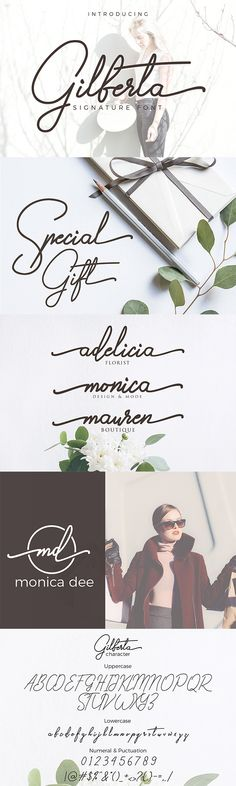 Gilberta Font is inspired from signature font. Gilberta is great for branding design, signature designs, product packaging, simply design with stylish text overlay to any background image. Signature Fonts, Signature Design, Graphic Design Fonts, Branding Design, Feminine Fonts, Kid Fonts, Typography Fonts, Script Fonts, Stylish Text