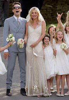 Celebrity Wedding Dress Photos - Best Photos of Celebrity Weddings - Cosmopolitan (Kate Moss)