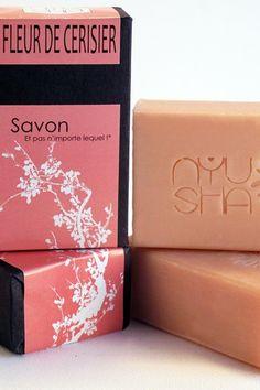 """Savon au lait d'ânesse """"Fleur de Cerisier"""" de Zaïn'Argan sur DaWanda.com"""