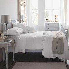 white and grey bedroom inspiration