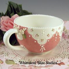 Whimsical Bliss Studios -  Large Blush Lace Cup