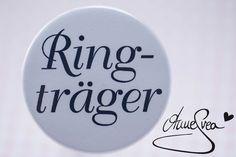 RINGTRÄGER Kind Kirche Button Anstecker Hochzeit von Anne Svea auf DaWanda.com
